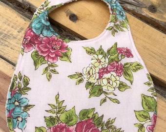 Floral baby bib