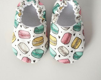 Macaron Baby Moccs / Baby Shoes / Baby Moccasins / Childrens Indoor Shoes /Soft Soled Shoes /Baby Boy Girl Gender Nuetral / Baby Mocs