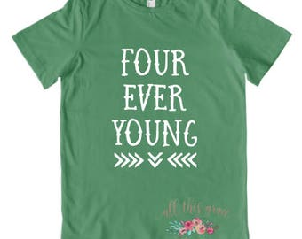 4th Birthday Outfit - Fourth Birthday Tee - 4th Birthday Shirt - Birthday Gift for Girl - Birthday Gift for Boy - 4th Birthday Shirt Girl