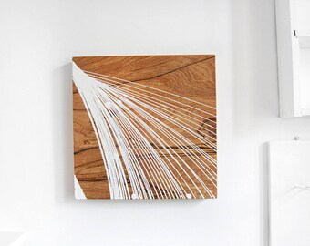"11.5 x 11.5"" Pendulum Oil Painting on wood panel, Gallery art, One-of-a-kind artwork"