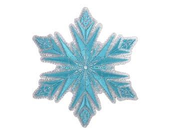 Snowflake Iron On Applique, Genuine Disney Iron On Patch, Frozen Patch, Winter Patch, Frozen Applique, Disney Applique, Kids Patch
