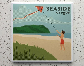 Seaside Oregon Tile Coaster