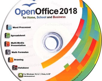 Office Suite 2018 CD with PDF software, for Home Student Professionals and Business, Compatible with Microsoft Office for Windows 10 8 7