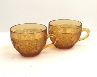 Set of Two Amber Mugs