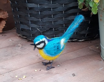 Wool felt Bluetit