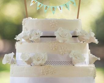 50% OFF Sale, Mint Wedding, PRINTABLE Cake Topper, Mint and Gold Wedding, Mint Cake Topper, Wedding Cake Banner, Printable Wedding Banner,
