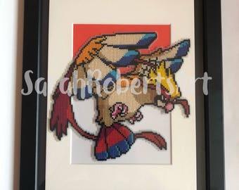 Pokemon 'Pidgeot' cross stitch picture