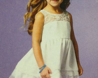 McCalls M6685 Sewing Pattern, Girls Dresses, Girls Sundress, Size 7-14