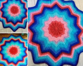 Baby blanket, Baby afghan, 12 point Star Blanket