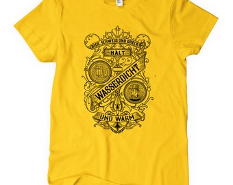 Women's Beer Sweat and Dirt German T-shirt - S M L XL 2x - Ladies' Beer Tee, Drink Local, Brewery - 4 Colors