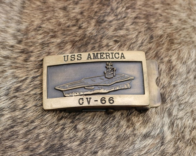 USS AMERICA Cvn-66 belt buckle