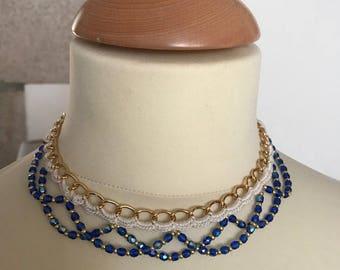 Crochet Choker necklace model //Bleuet//
