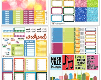 WK06 // I Heart Nashville Collection // Planner Stickers