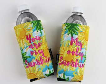 You are my Sunshine - My Only Sunshine - Gift Set - Can Cuddler ® custom CanCudder® Water Bottle holder