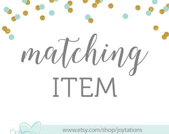 Custom Matching Item