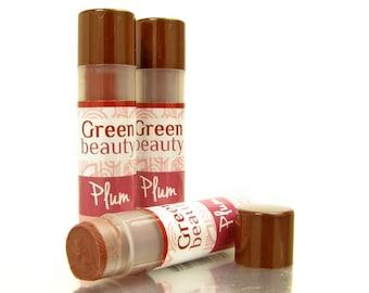 Tinted lip balm, Plum, natural lip balm, lip color, sheer lip tint, lip tint, lip balm, colored lip balm, mineral makeup, natural cosmetics