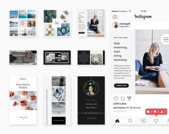 Social Media Pack Vol. I - Instagram + Facebook - Social Media Photoshop Templates