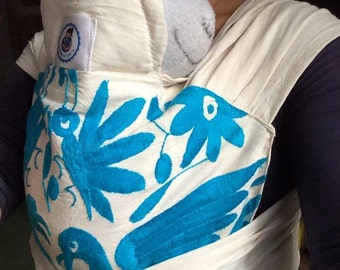 Mexican artisan embroidered mei tai