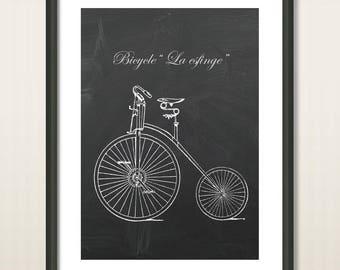 Bicycle Poster, Vintage Bicycles, Bike Poster, Bike Art, Bicycle Print, Bicycle Wall Art, Cycling Art, Cyclist