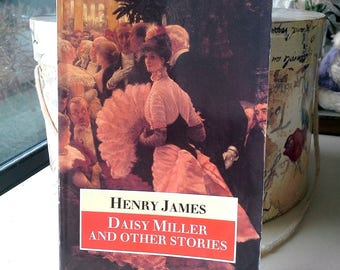 Henry James - Daisy Miller and other stories, vintage soft cover, English short stories, Oxford University Press, library decor