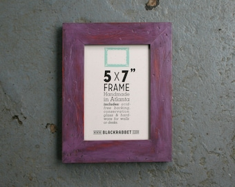 Violet Distressed Picture Frame (5 x 7 in)