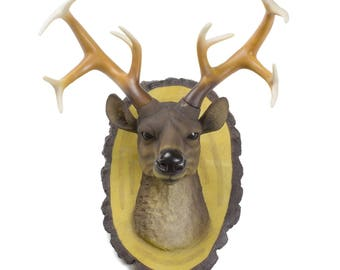 Deer Head Wall Decor Deer Antlers Resin Faux Deer Head Wall Mount