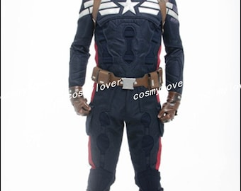 Captain America The Winter Soldier Steve Rogers Custom Made Cosplay Costume