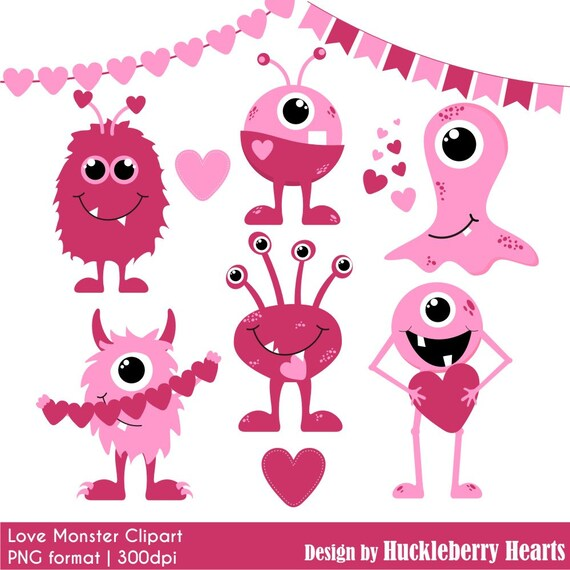 Valentine's Day Clipart Valentine Clip Art Monster