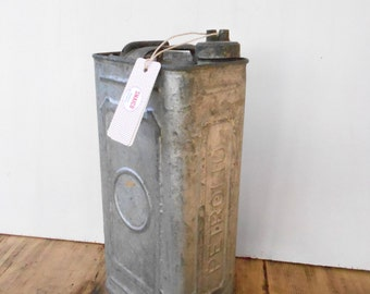 Old tin, canister metal, can fuel-Vintage