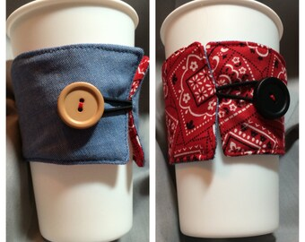 Reusable, Washable, Reversible and Insulated Coffee Cozy
