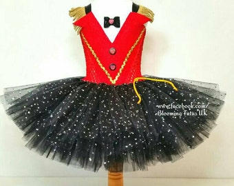 Sparkly Ringmaster Inspired Tutu Dress and Sparkly Hat-Birthday, Party, Photo Shoot, Pageant, Fancy Dress