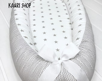 SALE!! double-sided baby nest for newborn babynest, sleep bed, cot, snuggle nest, pod, baby nest pattern, sleep nest,