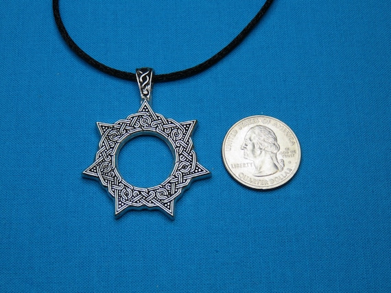 Heptagram magical 7 pointed star faery elfin elven star heptagram magical 7 pointed star faery elfin elven star small silver pewter necklace pendant stk185 aloadofball Choice Image