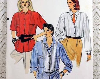 Vogue 9263, Misses' Shirt Sewing Pattern, Loose-fitting Shirt Pattern, Misses' Blouse Pattern, Misses' Size 6, 8, 10, Uncut