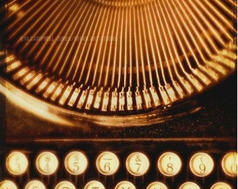 black wall decor, typewriter print, still life photo, large office art, gift for writers, fine art photograph, new apartment gift