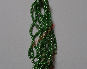 1 hank antique metal beads 11/0