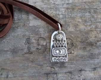 Bits & Pieces Sterling Silver Necklace. Hand Forged . Sterling Necklace.Rustic. Necklace.