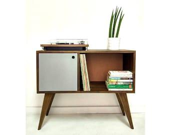 Vinyl Record Storage, Mid Century Modern Sideboard, Media Console, Record  Cabinet, TV