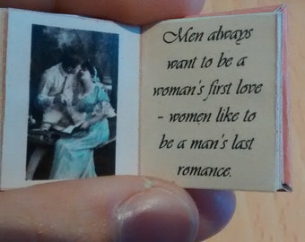 Dolls House 12th Scale  'Love Quotes' Downloadable miniature book.