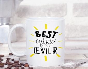 Funny Coworker Mug, Cubicle Gift, Colleague Gift, Office Mug, Funny Office Mugs, Bff Mug, Friendship Mug, Work Wife, Work Wife Gift, Fun Mug