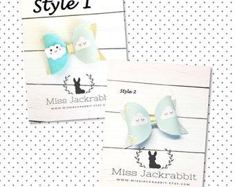 Cloud Hair Bow Hair Clips/ Headbands, Rainbow Hair Clip, Cloud Headbands, Spring Hair clip, Spring Headbands, Pink Bow Hairclip