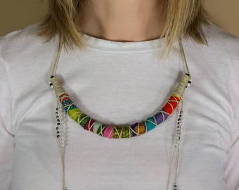 Tribal Jewelry, Ethnic Jewelry, African Jewelry, Gypsy Jewelry, Boho Jewelry, Tassel Necklace, Tassel Jewelry, Tribal Necklace, Hippie