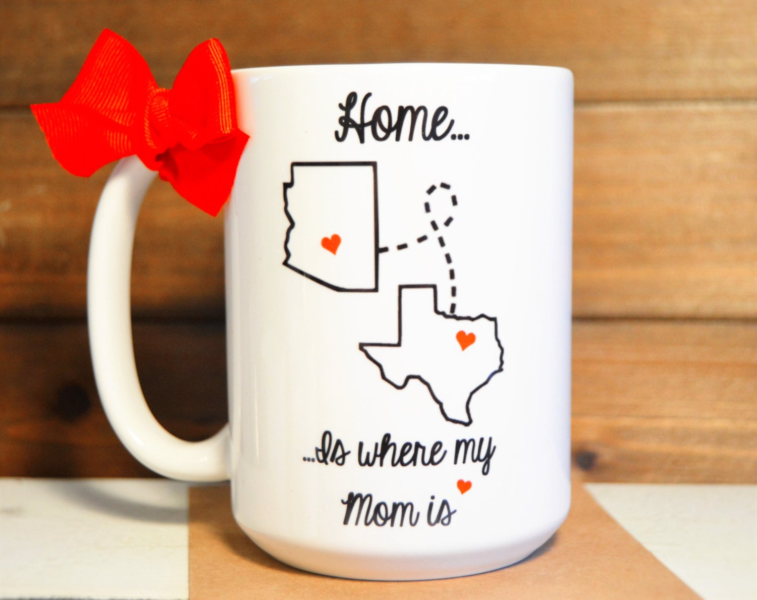 Home Is Where My Mom Is Mug Christmas Gift