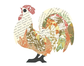 Rooster Print Note Cards