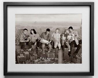 Photographic Poster Print: Friends TV Show photo, Aniston, LeBlanc, Cox, Perry, Schwimmer, Kudrow, New York City, NYC, Skyscraper, Skyline