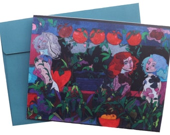 Art note card   'The Apple Garden'