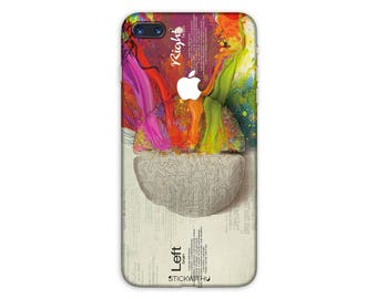 Painting iPhone Skin Left right brain iPhone Sticker Case creativity iPhone Decal art iPhone 7 8 plus iPhone 10 x 6s 6 plus 5 5s SE PS 085