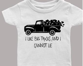 I Like Big Trucks Toddler Tee