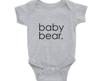 Baby Bear. Typography Baby Onesie