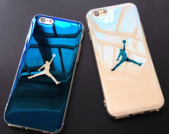 Michael Jordan Basketball Flyman 23 Air Jordan Bulls Chicago Dark Blue White Clear Soft Case for iPhone X 8 7 Plus 6s Plus 6s capa fundas